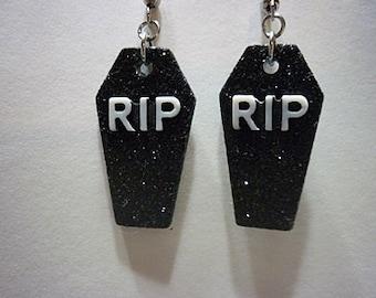 Coffin Earrings, Goth Jewelry, Halloween Jewelry, Coffins, earrings, Novilty Earrings, Horror, creepy Jewelry