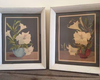 Vintage 1940's Floral Prints