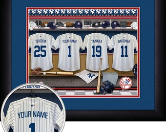 PERSONALIZED & FRAMED MLB New York Yankees Sports Prints