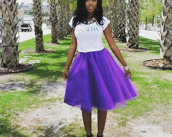 Lined Adult/Teen Tutu: Sewn  Satin Lining-Any solid color, any size