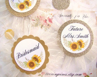Bride to Be Pin, Bridal Shower Favor, Summer Sunflower, Bachelorette Weekend, Wedding Party Pins, Team Bride, Bride Squad, Bride Tribe