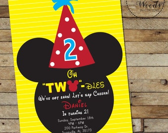 Oh Two-dles Birthday Invitation