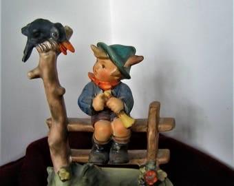 """GOEBEL HUMMEL FIGURINE """"Mischief Maker"""" w Label Number 342 Vintage West Germany Porcelain Figurine 1960 Statue"""