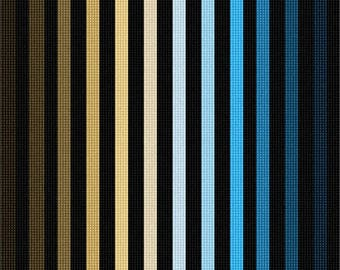 Needlepoint Kit or Canvas: Ombre Colorbars Beige Blue
