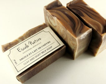 Clay and goat milk soap, Artisan soap with hempseed oil and cacao butter, Handmade olive soap