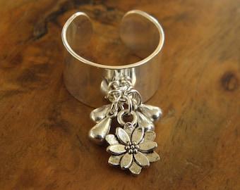 Adjustable ring - Bahia del Sol - boho jewelry - hippy - gypsy - Ibiza - yoga - tribal - ring - ethnic - ring - gypset - lotus flower.