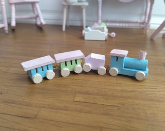Dolls House Miniature Train Toy  in 1:12 scale