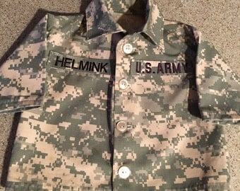 Army Military Inspired Baby Jacket, Baby Military Jacket, Baby Military Jacket