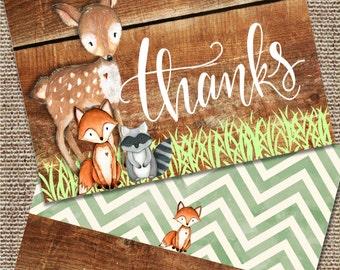 Woodland Stationary, Woodland Thank You Notes, Woodland Baby Shower, Woodland Note Cards, Woodland Animal Note Cards, Wood Note Cards