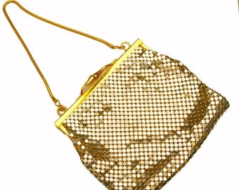 Impo Gold Mesh Evening Purse gold bag