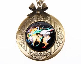 Necklace locket saint seiya 2020m