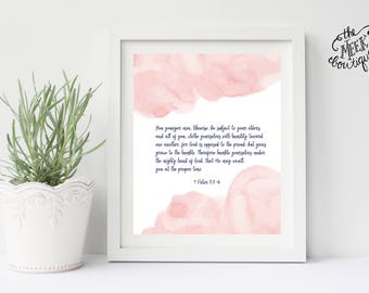 INSTANT DOWNLOAD, Scripture Art Printable, 1 Peter 5:5-6, No. 737