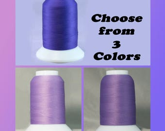 Genuine Woolly Nylon Thread  from YLI Corp. - 3 Shades available in Purple - Wooly activewear thread with some stretch- 1000 meters