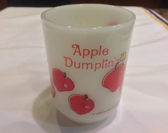 "Strawberry Short Cake ""Apple Dumplin"" mug by Anchor Hocking"