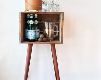 Vintage • Wooden Crate Table • Cotton Club • Repurposed