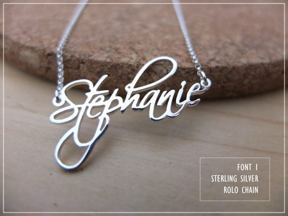 20% OFF / Font 1 / Personalized Name Necklace 925 sterling silver- Solid Brass- custom name -mother- graduation- bridesmaid- X'mas gift