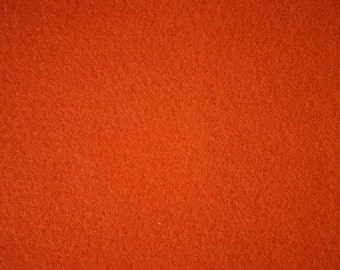 "Orange Felt Fabric 72"" Wide 15 Yards Wholesale"