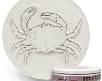 Crab Drink Coasters, Absorbent Coasters, Beach House, Nautical Decor, Home Decor, Tableware, Barware