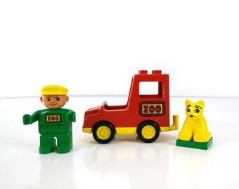 Vintage LEGO 2661 Duplo Animal Transporter, 1990