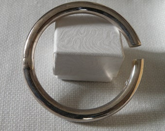 Modernist Sterling Silver Clamper Cuff Bracelet - marked 925