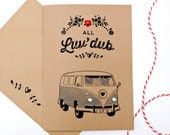 Camper van Valentines Day Card VW