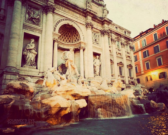 Rome photography, Italy art, Trevi Fountain, fine art photograph, Rome photo, retro print - Return to Me