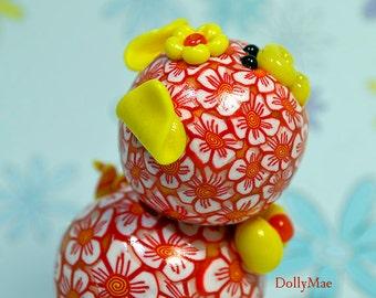 Dolly Mae Polymer Clay Piglet