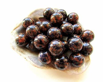 10pcs Natural Blue Brown Goldstone Beads 12mm Goldstone Beads Round Stone Beads Jewelry making Craft Supplies