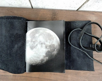 Lunar leather journal / ready to ship.
