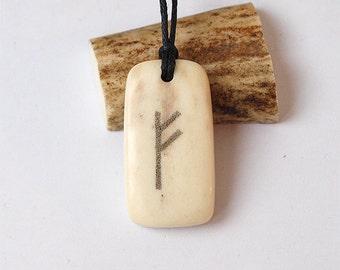 Custom rune pendant, Rune pendant, Rune jewelry, Rune necklace, Viking jewelry, Nordic jewelry, Runes, Antler rune, Runic pendant, Celtic