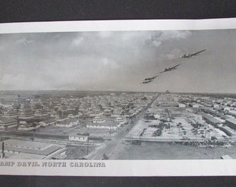 "Army Airfield Photograph Vintage Camp Davis North Carolina Holly Ridge 42"" Long"