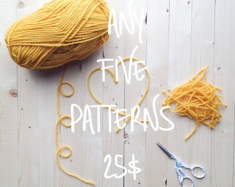 Design Discount Pattern Package CHOOSE ANY 5