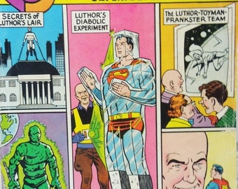 ON SALE 80 Page Giant Superman Comic Book. DC National Comics Issue 11. June 1965. Lex Luthor. Lois Lane. Gifts for Guys. Collectible for Su