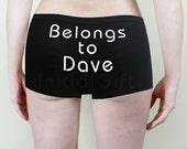 Personalized panties Bachelorette party gift Monogrammed boyshorts Custom lingerie XS-5X