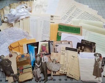 Junk Journal Kit Vintage Themed (coffee stain)