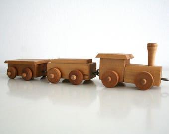 German Vintage Wooden vintage toy train DDR