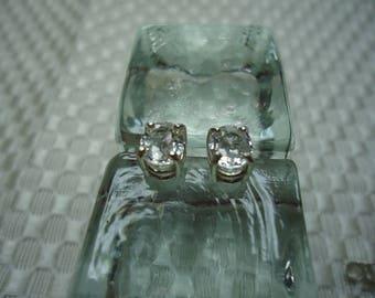 Oval Cut Ceylon Sapphire Earrings in Sterling Silver   #1981