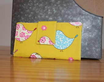 READY TO SHIP Yellow Bird Bi-fold Wallet