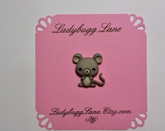 Gray Mouse Pin