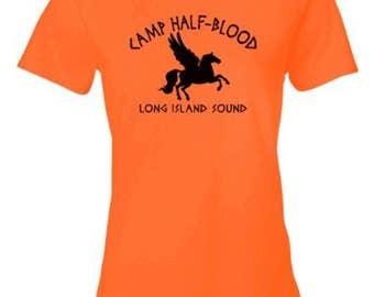 Ladies Tee Camp Half Blood | Retro Half-Blood Cool Book T-shirt