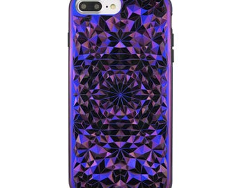 Holographic Cosmic Iridescent Kaleidoscope Case for iPhone 7+ Plus // Holographic Blue and Purple Iridescent iPhone 7+ Plus Case