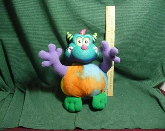 """Happi Glumps  """"Willynilly"""" Dragon/Monster Plush by Russ Bearie"""