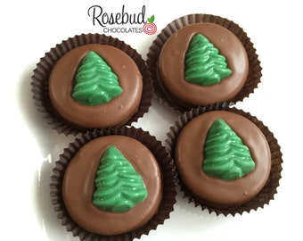 12 Chocolate Christmas Tree Oreo Cookie Favors Holiday Season Company Event Party Gifts Table Dessert Settings