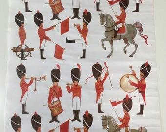 Vintage Gordon Fraser Childrens Soldier Wrapping Paper / Art Print