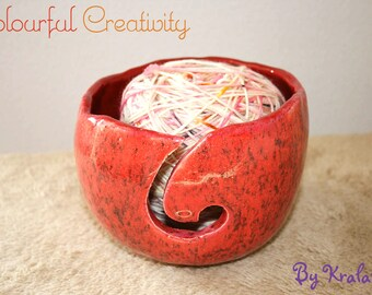 Yarn bowl - Strawberry swirl