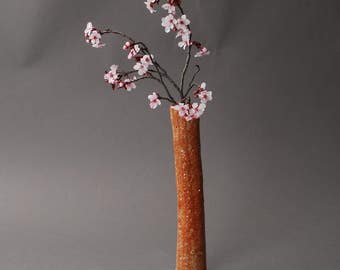 Ikebana Flower Arrangement vase. Brown