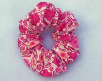 Liberty of London fabric hair scrunchie - pink floral hair accessory,  scrunchy, scrunchie, hairband, hair tie, hair elastic