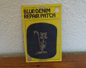 Vintage 70's Denim Iron On Patch NOS