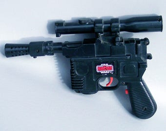 Vintage Star Wars Kid Sized Han Solo Blaster in Working Condition - Empire Strikes Back