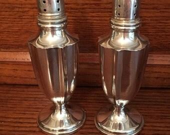 Ending Soon  STORE WIDE SALE Sterling Silver Salt and Pepper Shakers - Reveresmiths Inc